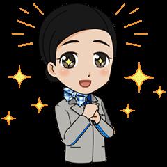 【無料スタンプ】ANAスタンプ第4弾!