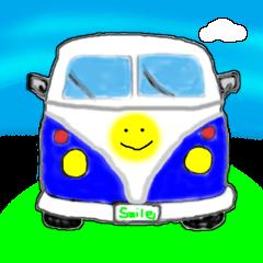 スマイルカー。車