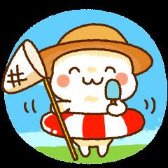 【LINEスタンプ】麦わらちゃんの夏