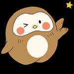 【無料スタンプ】NEW!ぽふぽふフク子さん☆
