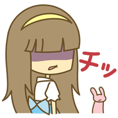 【LINEスタンプ】Let's毒舌少女★彩