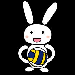 【LINEスタンプ】バレーボールうさぎ