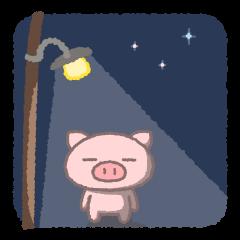 【LINEスタンプ】ぶたたの伝言2