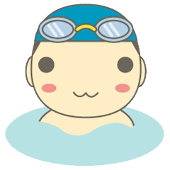 【LINEスタンプ】GO! スイミング ~男の子編~