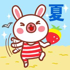 【LINEスタンプ】夏バージョン!イチゴがふわり