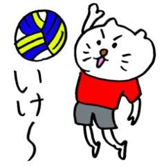 【LINEスタンプ】もっくんのかわいいスポーツ応援ねこ
