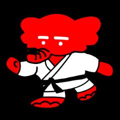 【LINEスタンプ】日本大学柔道部のマスコット「赤象」
