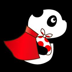 【LINEスタンプ】ぱんだマン 空飛ぶパンダ&くま loveちゃん