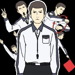 【LINEスタンプ】バレーボール審判のハンドシグナル