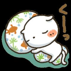 【LINEスタンプ】しろねこ真夏&秋パック