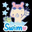 【LINEスタンプ】スイミング☆くまちゃん2