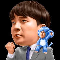 【無料スタンプ】エン転職 Mr.エン/バカリズム&濱田岳