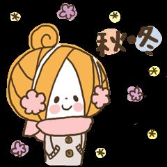 【LINEスタンプ】かわいい!ガーリースタンプ(秋冬編)