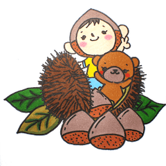 【LINEスタンプ】ひなた君とお友達:秋と冬