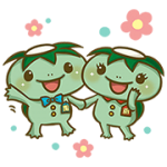 【無料スタンプ】かっぱ寿司 カーくん&パー子ちゃん