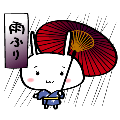 【LINEスタンプ】春夏秋冬★季節のご挨拶うさぎ