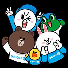 【LINEスタンプ】LINE X UNICEF スペシャルエディション