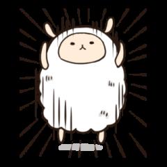【LINEスタンプ】羊のモフリ