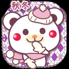 【LINEスタンプ】秋冬/チョコくま日常セット