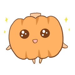 【LINEスタンプ】かぼちゃのかわいいキャラ