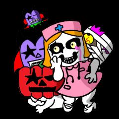 【LINEスタンプ】ハロウィンでかぶりものモンスターズ