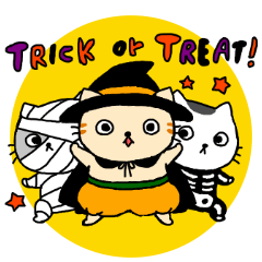 【LINEスタンプ】Let's Halloween party!