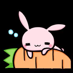 【LINEスタンプ】うさぎのラピちゃん part2