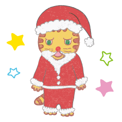 【LINEスタンプ】玄関ねこ 〜クリスマス & お正月編〜