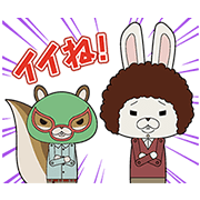 【LINEスタンプ】紙兎ロペ 冬のしゃべるスタンプ