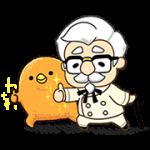 【無料スタンプ】KFC×もふ屋 コラボスタンプ