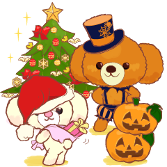 【LINEスタンプ】ココとリリ★クリスマス/ハロウィーン/新年