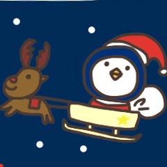 【LINEスタンプ】クリスマス時期のぺんぎんスタンプ