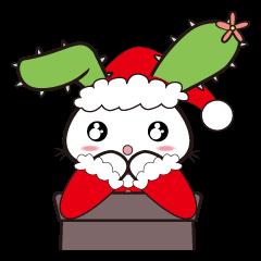 【LINEスタンプ】ラピちゃんの心をこめてクリスマスのご挨拶