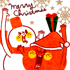 【LINEスタンプ】karinの 『りんごくん』クリスマス&お正月