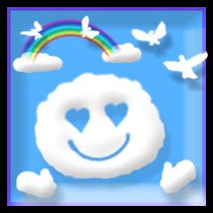 【LINEスタンプ】3D調 ほっこり可愛い青空メッセージ