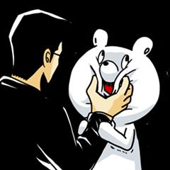 【LINEスタンプ】うわめっぽ vol.2 運び屋クマは正月に笑う