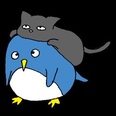 【LINEスタンプ】ネコをかぶったペンギン