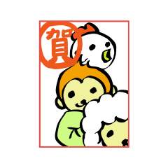 【LINEスタンプ】おやゆび年賀12年分