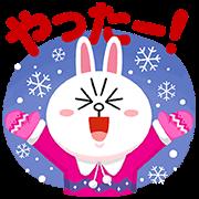 【無料スタンプ】ルーレット限定冬のLINEキャラクターズ