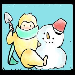 【LINEスタンプ】さるどし君のお正月