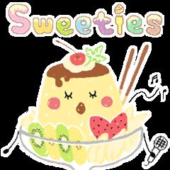 "【LINEスタンプ】40種類のスイーツキャラクター ""Sweeties"""