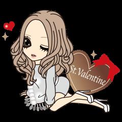 【LINEスタンプ】バレンタイン&ウィンターガール