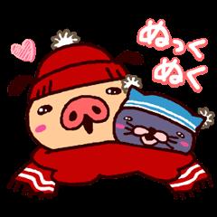 【LINEスタンプ】冬パンツ♪踊れパンパカパンツ