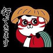 【無料スタンプ】第2弾!歌舞伎パンダ全16種