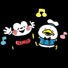 【LINEスタンプ】カナヘイ画♪ミッキー&フレンズ