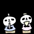 【LINEスタンプ】春のパンダさん Spring Panda