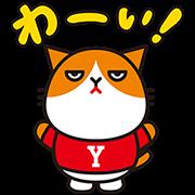 【無料スタンプ】ふてにゃん 素晴らしい Ymobile篇
