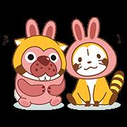 【無料スタンプ】ポコポコ × ラスカル コラボスタンプ♪