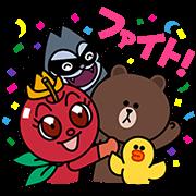 【無料スタンプ】リンゴキッド×LINEキャラクターコラボ