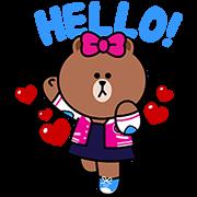 【無料スタンプ】チョコ!ブラウンの妹
